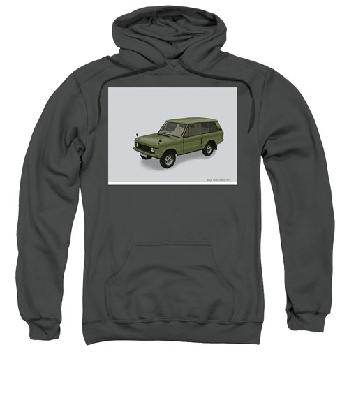 Sweatshirt featuring the mixed media Range Rover Classical 1970 by TortureLord Art