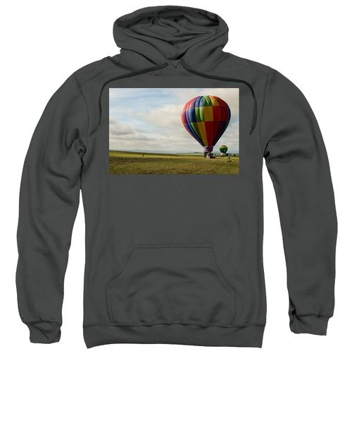 Sweatshirt featuring the photograph Raton Balloon Festival by Stephen Holst