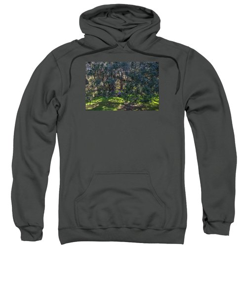 Reading In The Shade Of Live Oaks Sweatshirt