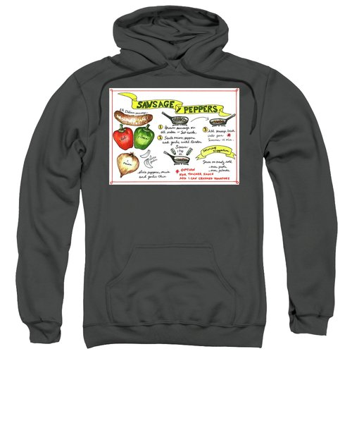 Recipe Sausage And Peppers Sweatshirt