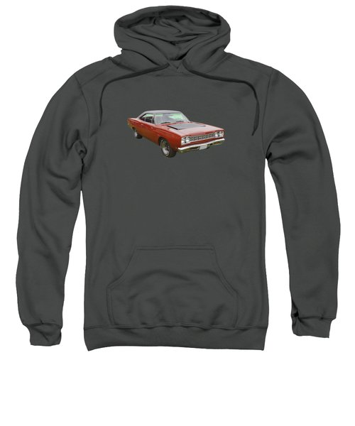Red 1968 Plymouth Roadrunner Muscle Car Sweatshirt