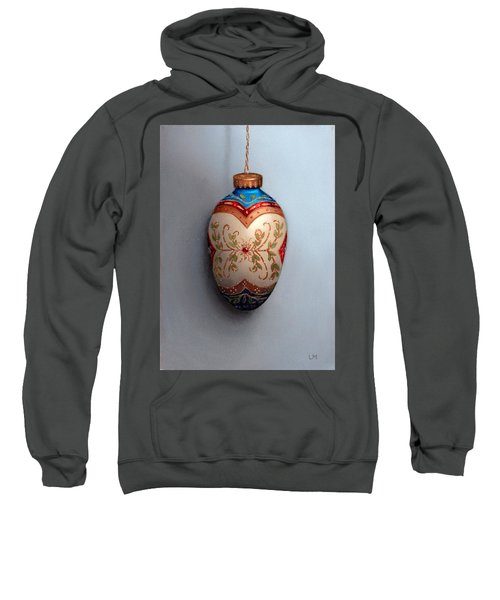 Red And Blue Filigree Egg Ornament Sweatshirt