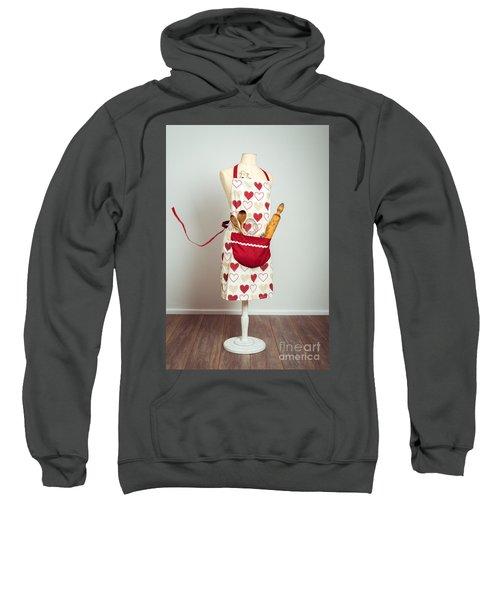 Red Baking Apron Sweatshirt