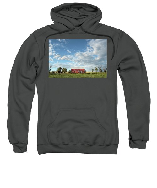 Red Barn On The Prairie Sweatshirt