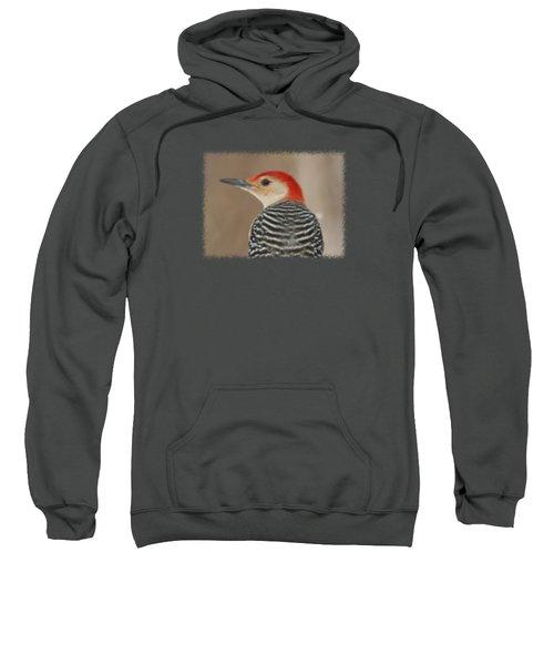 Red Bellied Woodpecker Glamour Portrait Sweatshirt