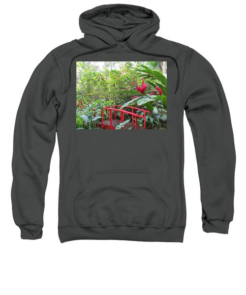 Red Bridge Sweatshirt by Teresa Wing