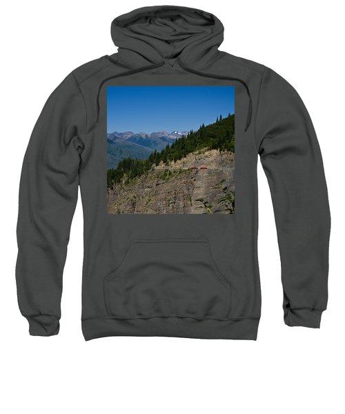 Red Buses, Glacier National Park Sweatshirt