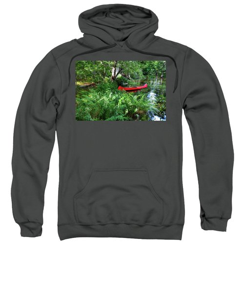 Red Canoe In The Adk Sweatshirt