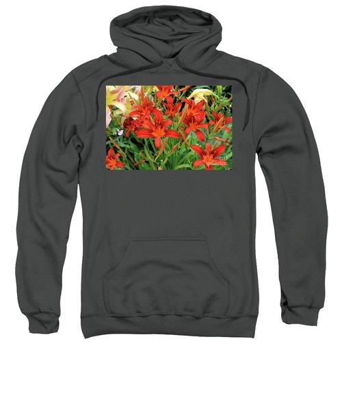 Red Daylilies Sweatshirt