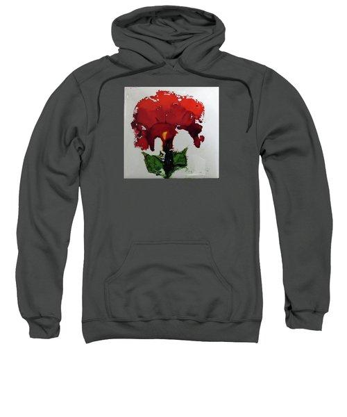 Red Flower Sweatshirt