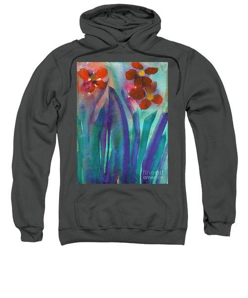 Red Flowers Sweatshirt
