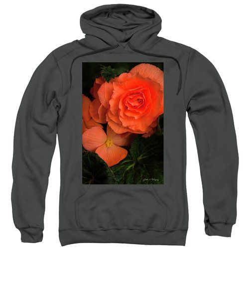 Red Giant Begonia Ruffle Form Sweatshirt