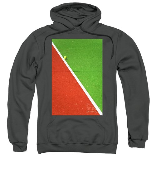 Red Green White Line And Tennis Ball Sweatshirt
