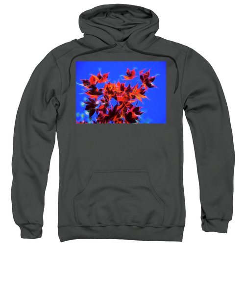 Red Maple Leaves Sweatshirt by Yulia Kazansky
