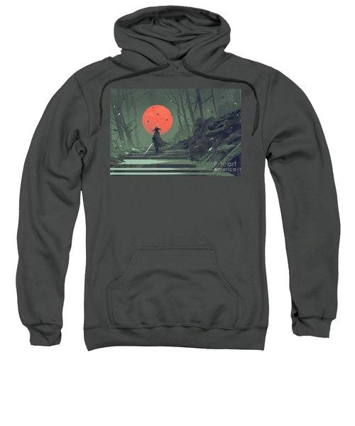 Red Moon Night Sweatshirt
