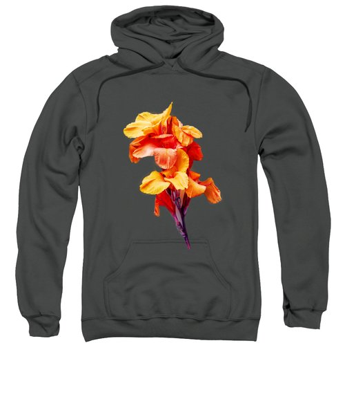 Red Orange Canna Blossom Cutout Sweatshirt