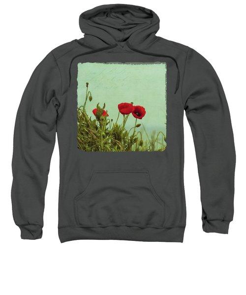 Red Poppies Sweatshirt