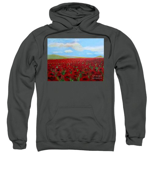 Red Poppies In Remembrance Sweatshirt