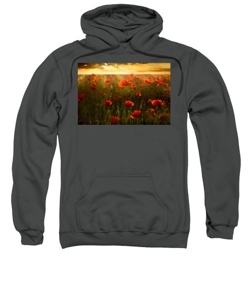 Red Poppies In The Sun Sweatshirt