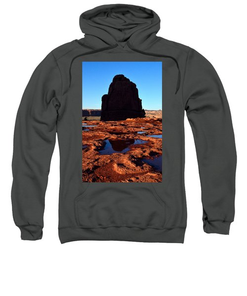 Red Rock Reflection At Sunset Sweatshirt