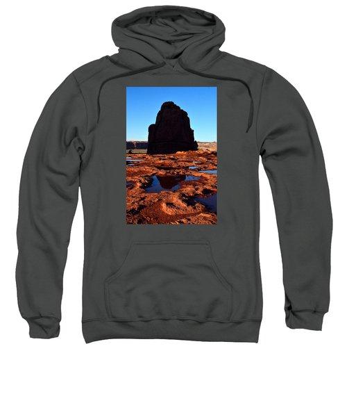Red Rock Reflection At Sunset Sweatshirt