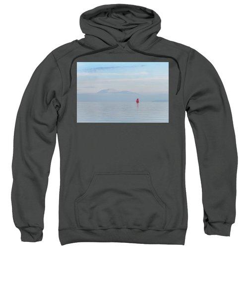 Red Sailboat On Lake Sweatshirt