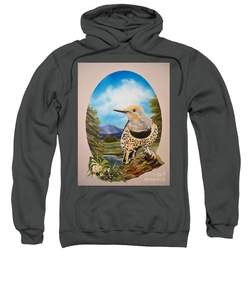 Flying Lamb Productions                       Red Shafted Flicker Sweatshirt