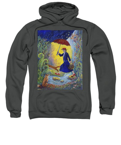 Red Shoes Mary Poppins Sweatshirt