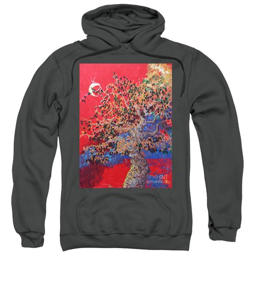 Red Sky And Tree Sweatshirt