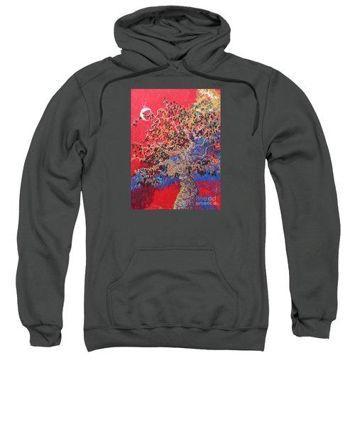 Red Sky And Tree Sweatshirt
