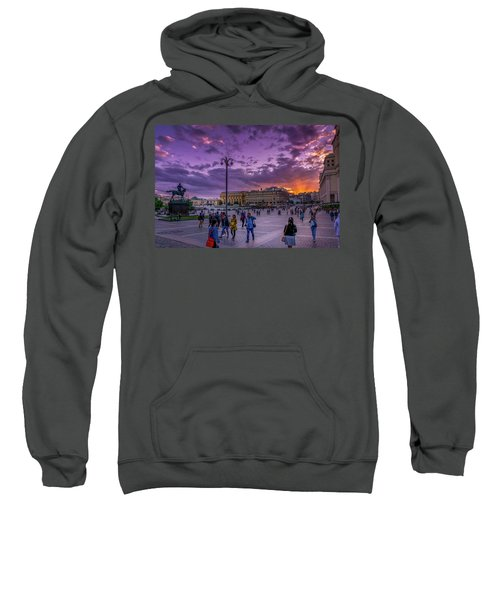 Red Square At Sunset Sweatshirt