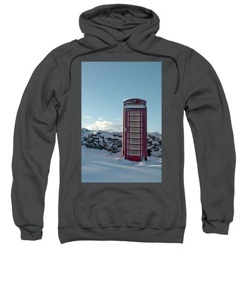 Red Telephone Box In The Snow IIi Sweatshirt
