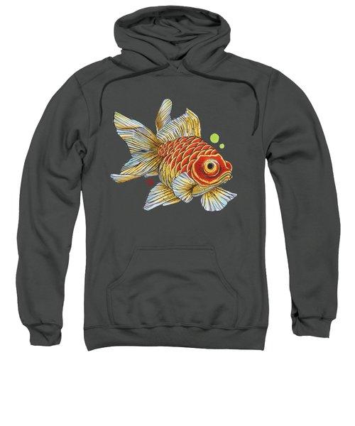 Red Telescope Goldfish Sweatshirt by Shih Chang Yang