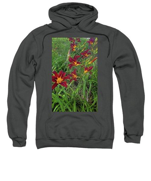 Red Tigerlily Garden Sweatshirt