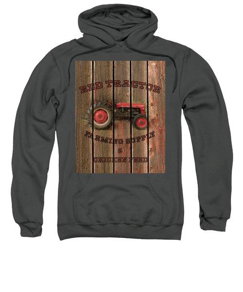 Red Tractor Farming Supply Sweatshirt