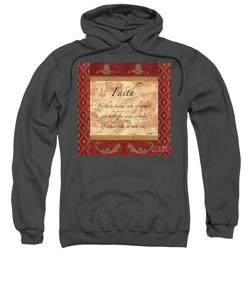 Red Traditional Faith Sweatshirt