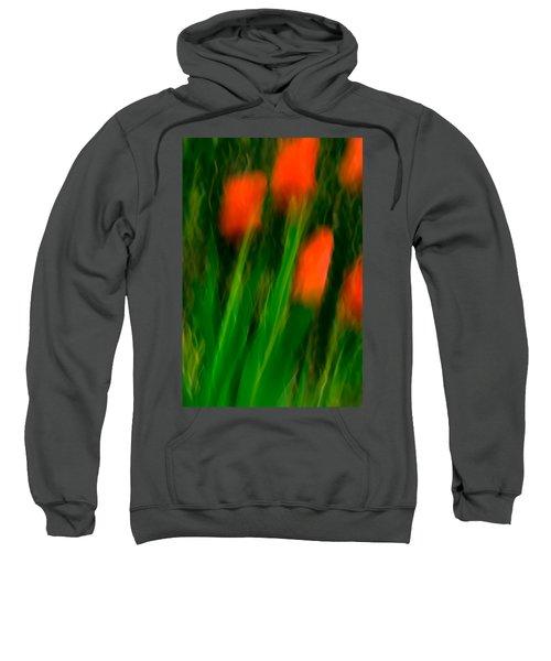 Red Tulips Sweatshirt