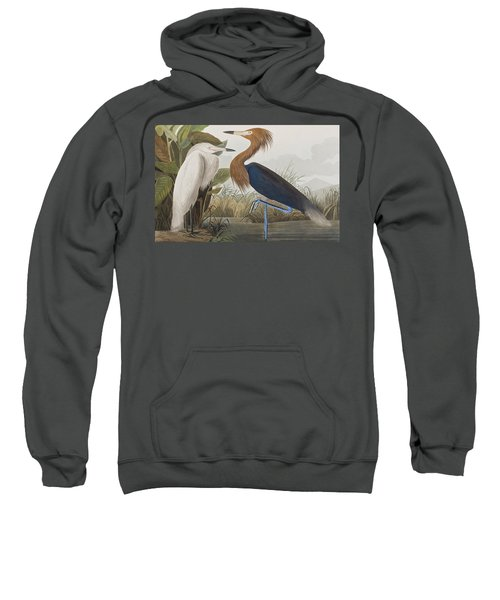 Reddish Egret Sweatshirt by John James Audubon