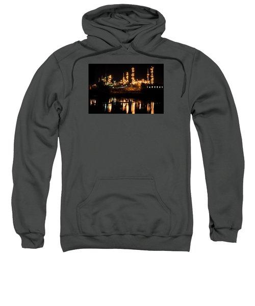 Refinery At Night 1 Sweatshirt