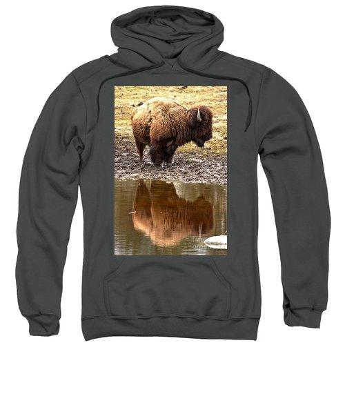 Reflecting In Yellowstone Sweatshirt