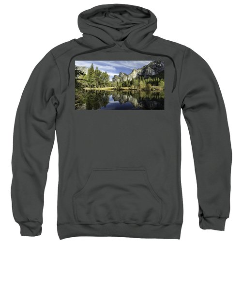 Sweatshirt featuring the photograph Reflecting On Yosemite by Chris Cousins