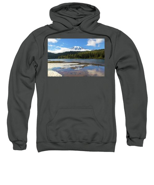 Reflection Lakes In Mount Rainier National Park Sweatshirt