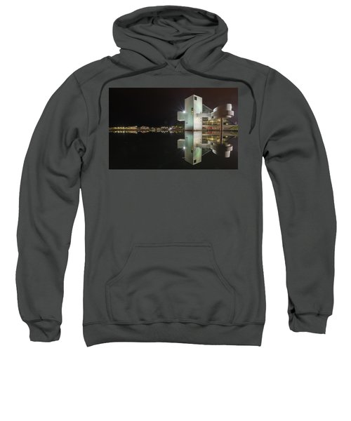 Reflection Of Rock And Roll In Cleveland Sweatshirt