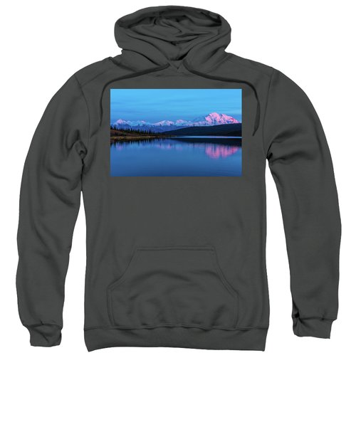 Sunset Reflections Of Denali In Wonder Lake Sweatshirt