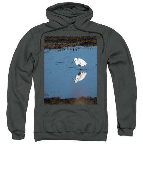 Reflections White Egret Sweatshirt