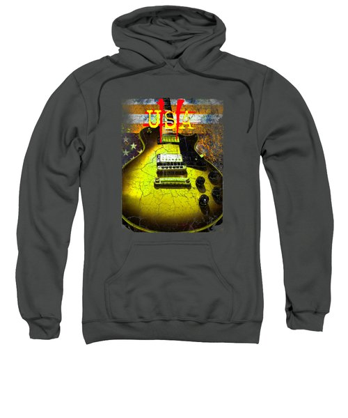 Relic Guitar Music Patriotic Usa Flag Sweatshirt