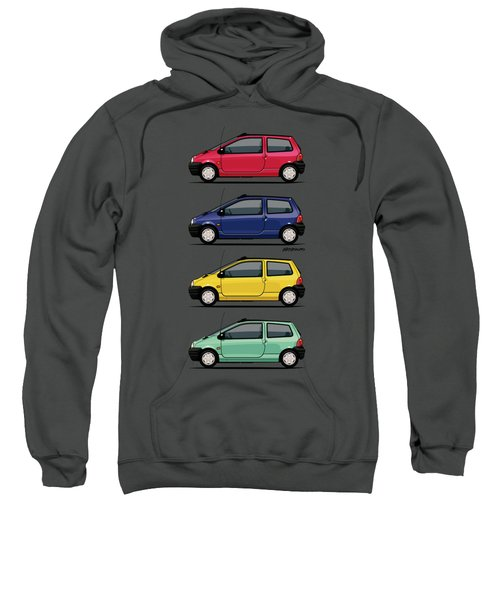 Renault Twingo 90s Colors Quartet Sweatshirt by Monkey Crisis On Mars