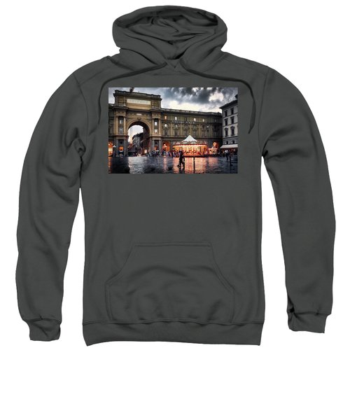 Republic Square In The City Of Florence Sweatshirt