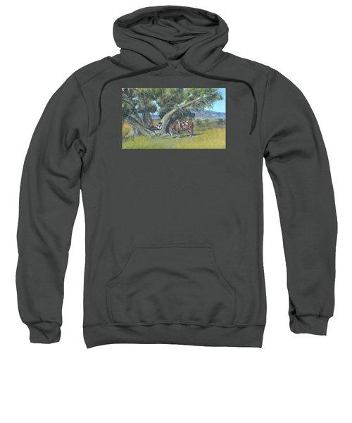 Resting Cowboy Painting A Study Sweatshirt