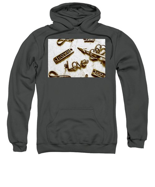 Retro Love Heart Jewels  Sweatshirt